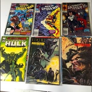 Lot of 18 Vintage Comic Books DC Marvel Bagged